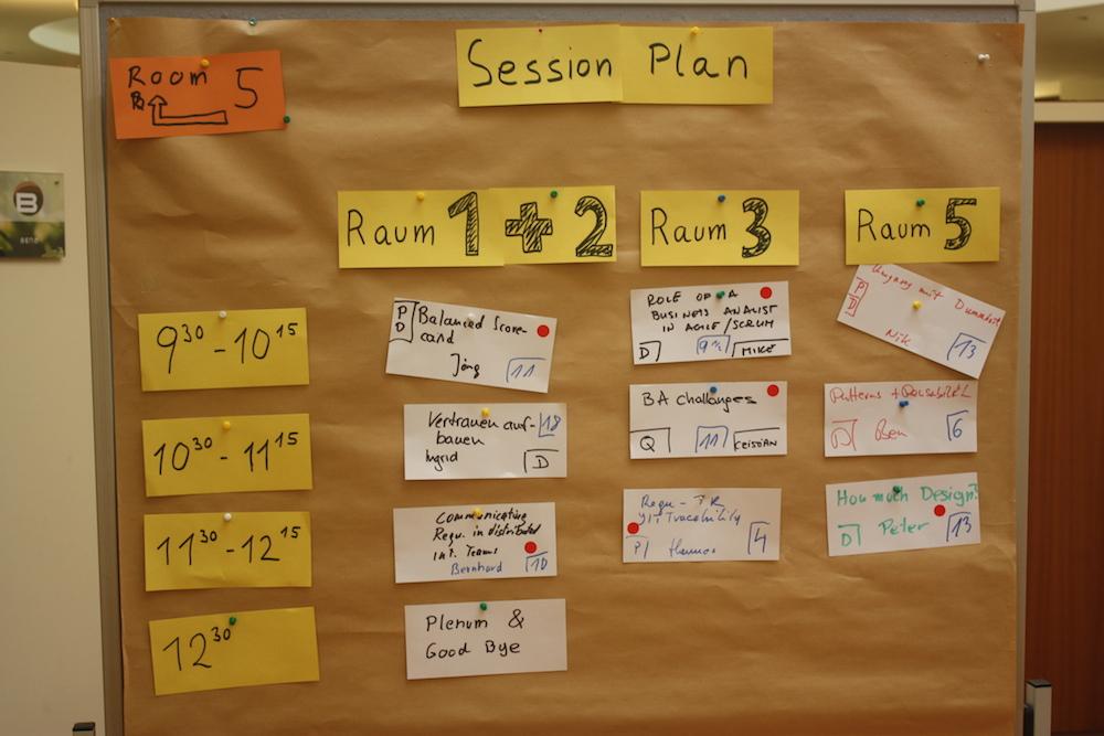 Sessionplan Samstag